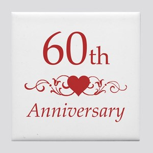 60th Wedding Anniversary Tile Coaster